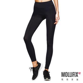 【Mollifix】MoveFree 掰掰馬鞍動塑褲(黑)