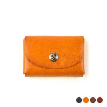 【Zoeh-Forest】100%植鞣牛皮製作真皮雙層卡片包 名片夾 零錢包(4色)