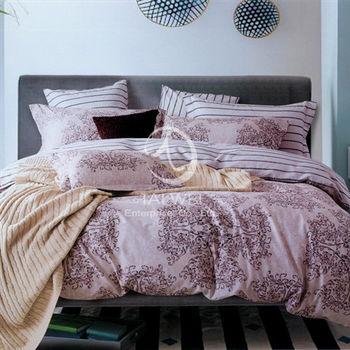 【卡莎蘭】洛沙 雙人純棉七件式床罩組(咖)
