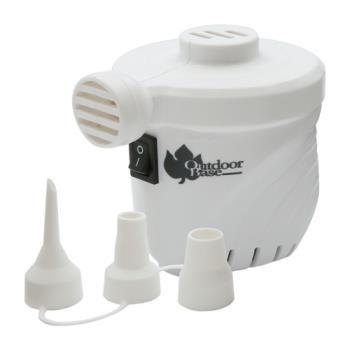 【OutdoorBase】颶風充氣馬達-米白-28286 (PSI出氣量UP。充氣床馬達。可充氣及洩氣。電動充氣幫浦)