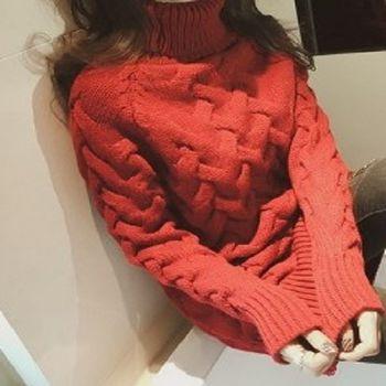 [協賀]麻花毛衣套頭衣服