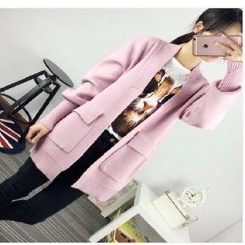 [協賀]韓版寬鬆上衣冬毛衣