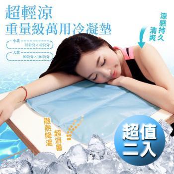 超值2入-重量級超清涼萬用冷凝墊 (32x42cm)