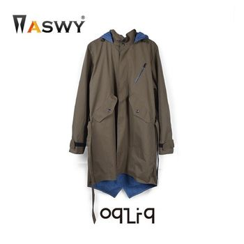 ASWY - OqLiq 雙面穿經典軍外套 (軍綠M)