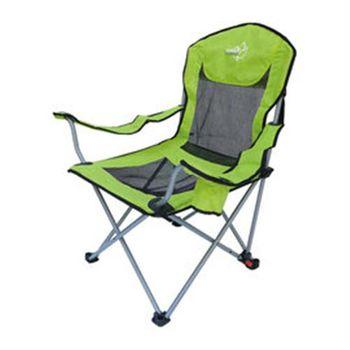 【Outdoorbase】太平洋。高背。網布三段式休閒椅-25261(綠)