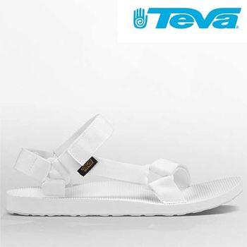 【TEVA 】TEVA男款 專業運動-水系列 經典緹花織帶涼鞋ORIGINAL UNIVERSAL  (優質白) - TV1004006BRWH
