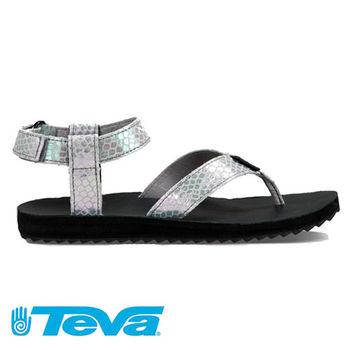 【TEVA 】女款 經典緹花織帶夾腳涼鞋 / 休閒鞋 ORIGINAL UNIVERSAL - TV1010328GREY (時尚銀)