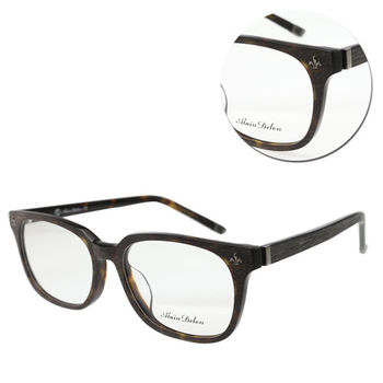 【ALAIN DELON 亞蘭德倫】方形木紋琥珀板材光學眼鏡(AD5566-C29)