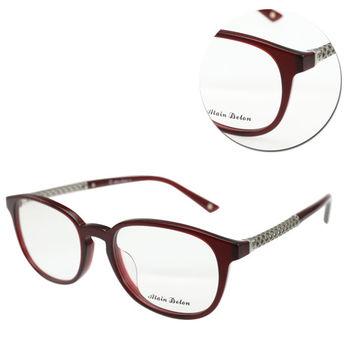 【ALAIN DELON 亞蘭德倫】復古鏤空銀邊紅色光學眼鏡(AD10116-C4)