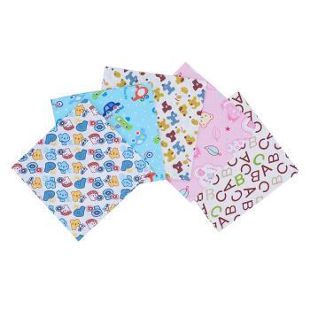 【六條入】可愛動物造型寶寶全棉三角口水巾