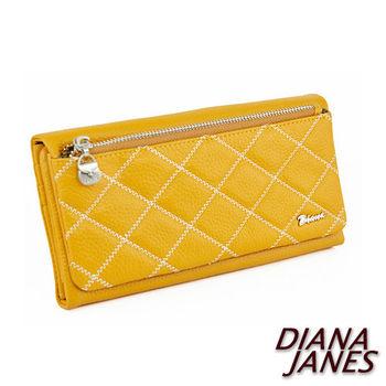 Diana Janes 菱格紋時尚三折長夾