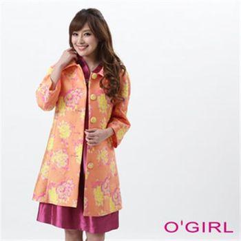 【OGIRL】復古亮彩緹花外套