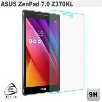 【EZstick】ASUS ZenPad 7.0 Z370 KL 平板專用 鏡面鋼化玻璃膜 靜電吸附