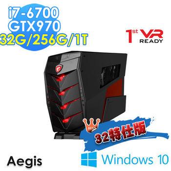 MSI 微星 Aegis-012TW i7-6700 獨顯GTX970 Win10 桌上型電腦-32G特仕版