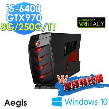 MSI 微星 Aegis-011TW i5-6400 獨顯GTX970 Win10 桌上型電腦-雙碟特仕版
