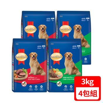 【SmartHeart】慧心犬糧 - 牛肉 (3kg x2) / 羊肉+米 (3kg x2) 口味成犬配方  (共4包)