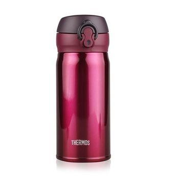 THERMOS膳魔師 超輕量不鏽鋼真空保溫瓶0.35L (JNL-350) 酒紅色