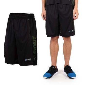 【FIRESTAR】男吸排籃球褲-運動短褲 休閒短褲 黑綠