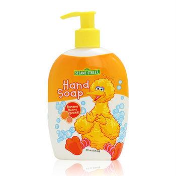 【美國 Sesame Street 】可愛造型洗手乳(香蕉草莓香)8oz/236ml