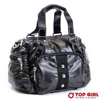 【TOP GIRL】搖滾狂想手提肩背包-女(神秘黑)