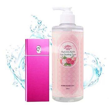 KilaDoll 夏日補水充電組-玫瑰玻尿酸保濕化妝水500ml×1+奈米離子噴霧行動電源