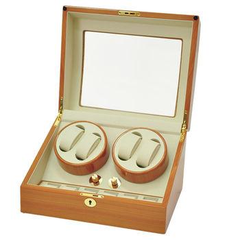 WISH 機械腕錶自動上鍊盒‧10只裝 - 金色楓木鋼琴烤漆 (031-JW)