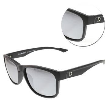 【ALAIN DELON 亞蘭德倫】偏光方形水銀灰色霧黑太陽眼鏡(AD20336S-B2)