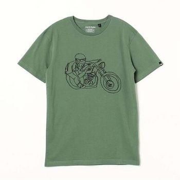 Deus 冷顏料染色印花 摩托車 短袖上衣 BALI RIDER TEE - 抹茶綠