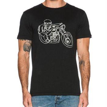 Deus 冷顏料染色印花 摩托車 短袖上衣 BALI RIDER TEE - 黑色