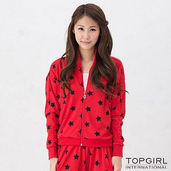 TOP GIRL 星勢力女孩飛鼠袖外套-火熱紅