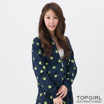 TOP GIRL 星勢力女孩飛鼠袖外套-星空藍