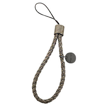 BOTTEGA VENETA  羊皮編織手機吊飾(古銅)