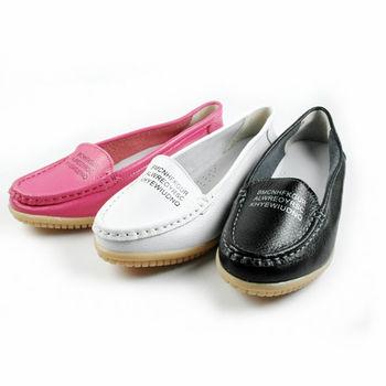 【Moscova】手工真皮系列。字母裝飾休閒鞋-黑色