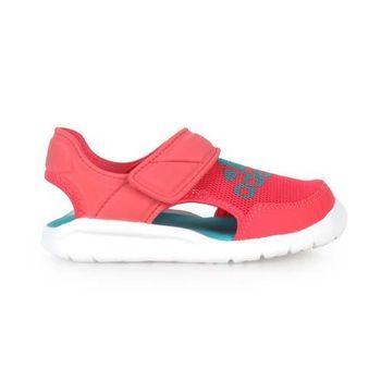 【ADIDAS】FLEXZEE C 女童護指涼拖鞋- 游泳 涼鞋 桃紅湖水綠