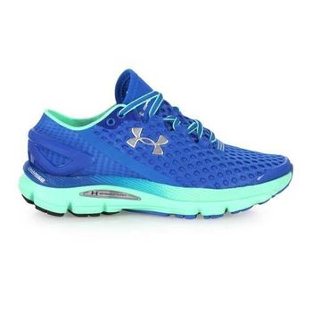 【UNDER ARMOUR】UA SPEEDFORM GEMINI2女慢跑鞋 寶藍綠