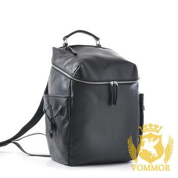 【VOMMOR】韓國風格商務頂級小牛皮後背包