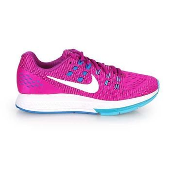 【NIKE】AIR ZOOM STRUCTURE 19 女慢跑鞋- 路跑 紫藍