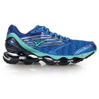 【MIZUNO】WAVE PROPHECY 5 女慢跑鞋- 路跑 美津濃 藍湖水綠