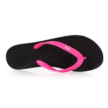 【UNDER ARMOUR】UA SANDAL BOLT T女拖鞋-涼鞋 黑亮桃紅