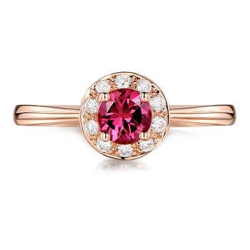 MAYMOON 美好年代-天然紅寶石0.5ct戒指(18K)