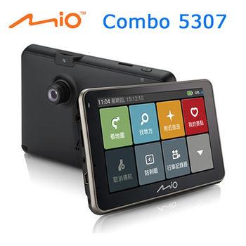 Mio Combo 5307 三合一5吋行車記錄導航機※贈三孔點煙器+讀卡機+清潔組+內附8G卡※