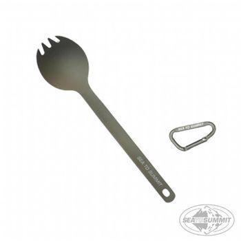 SEATOSUMMIT 鈦合金餐具(湯叉)(深灰色) 2入