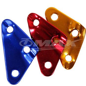 omax鋁合金-三角營繩調節片-12入(顏色隨機出貨)