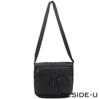 BESIDE-U - UNIDENTIFIED系列簡約時尚隨身肩背包 - 黑磚色
