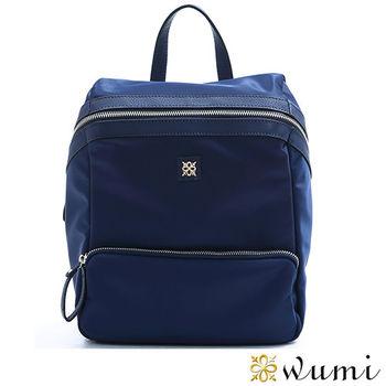WuMi真皮  輕巧貝蒂尼龍配皮多用途後背包 共二色