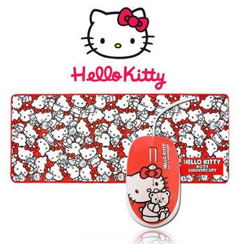 三麗鷗原廠授權 Hello Kitty 40周年滑鼠超大滑鼠墊