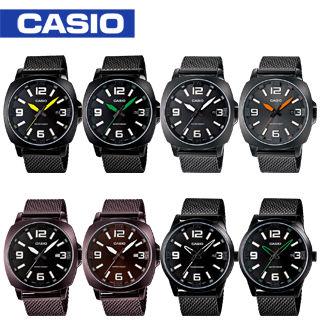 【CASIO 卡西歐】時尚亮彩網鋼帶男錶(MTP-1350BD/CD/DD-MTP-1351BD)