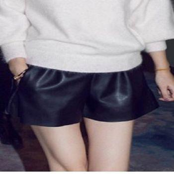 [協賀]PU皮短褲