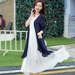 DearBaby韓風優雅兩件式罩衫長洋裝套組*預購