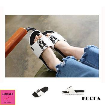 ALMANDO-SHOES ★正韓法鬥輕盈休閒室內外拖鞋★女性拖鞋/韓國空運